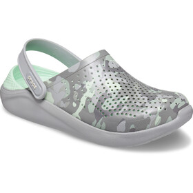 Crocs LiteRide Printed Camo Crocs, neo mint/light grey